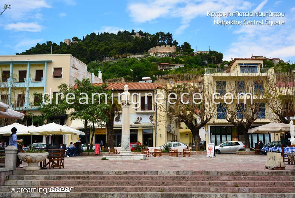 Central Square Nafpaktos. Explore Greece.
