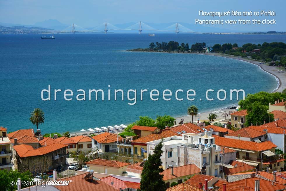 Panoramic view of Nafpaktos Greece