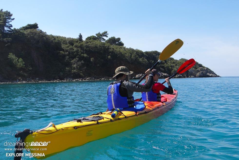 Explore Messinia Peloponnese Sea Kayaking Greece. Discover Greece.