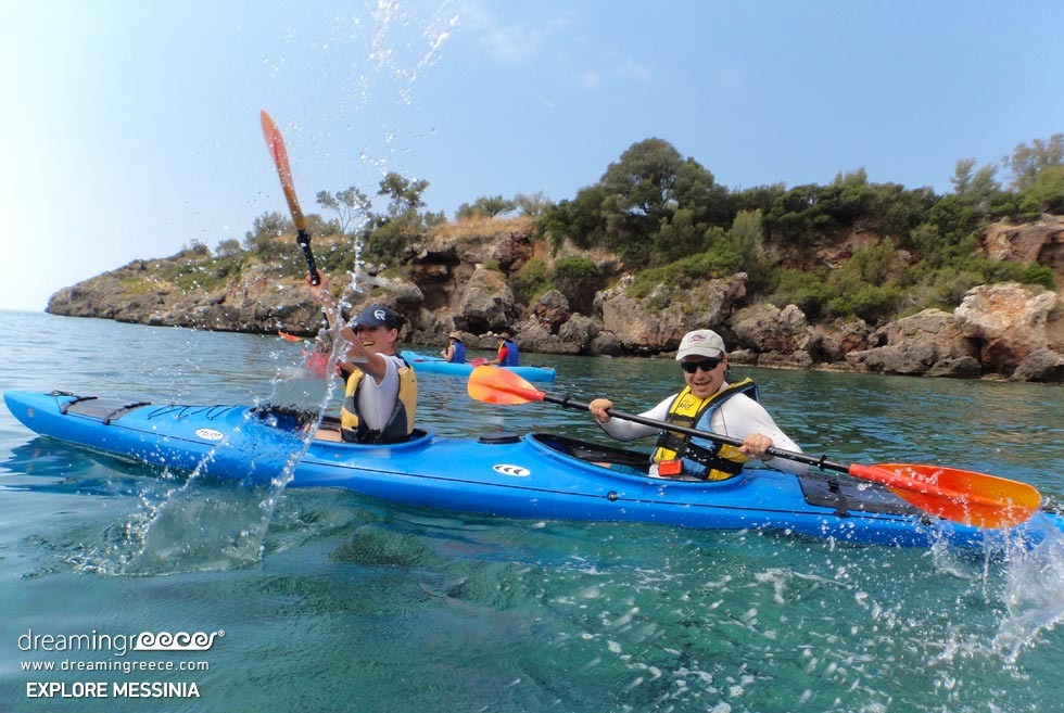 Explore Messinia Sea Kayaking in Greece. Summer Holidays in Greece.