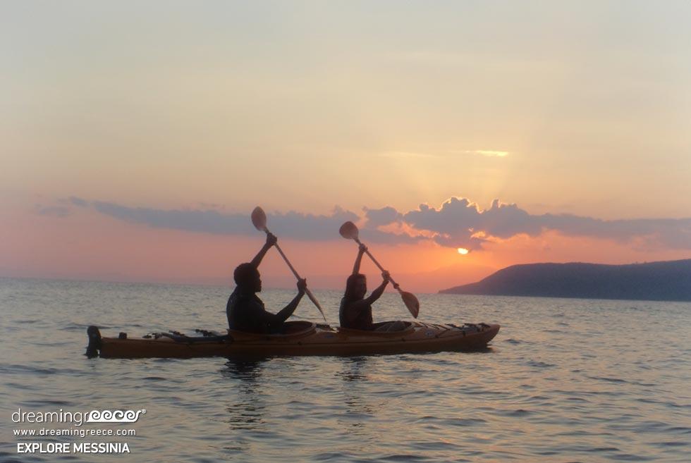 Explore Messinia Sea Kayak Greece. Travel guide of Kalamata.
