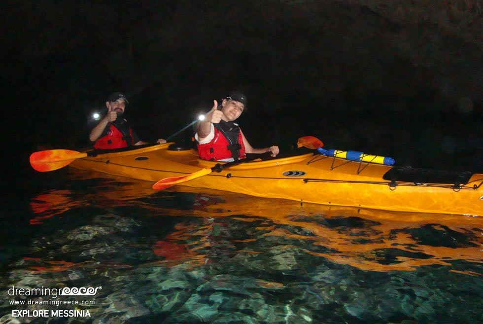 Explore Messinia Sea Kayaking Greece. Holidays in Kalamata.