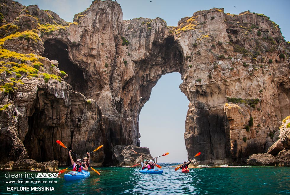 Explore Messinia Sea Kayaking Greece. Holidays in Greece.