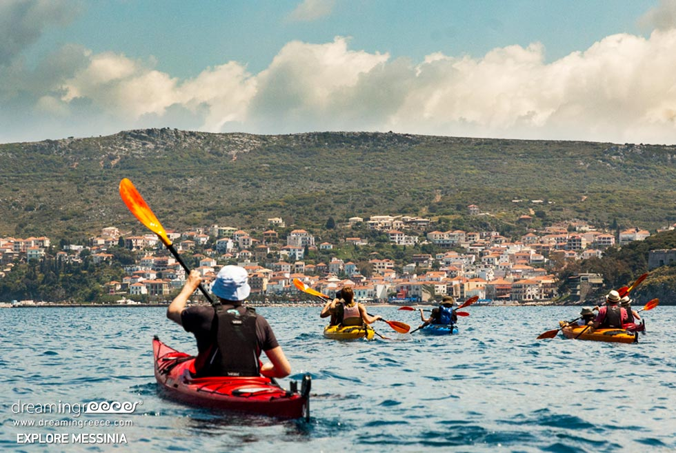 Explore Messinia Sea Kayaking Greece. Activities in Greece.