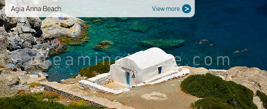Agia Anna beach Amorgos beaches Greece