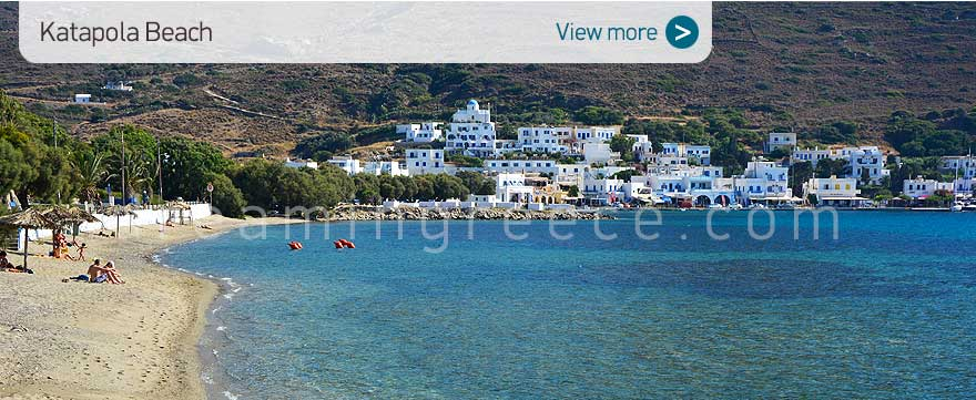 Katapola beach Amorgos beaches Greece