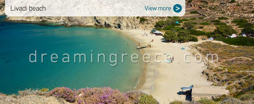 Livadi beach Donousa beaches Greece. Travel Guide of Greece.