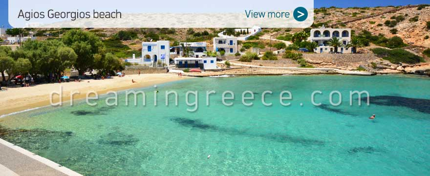 Agios Georgios beach Donousa beaches Greece. Holidays in Greece.