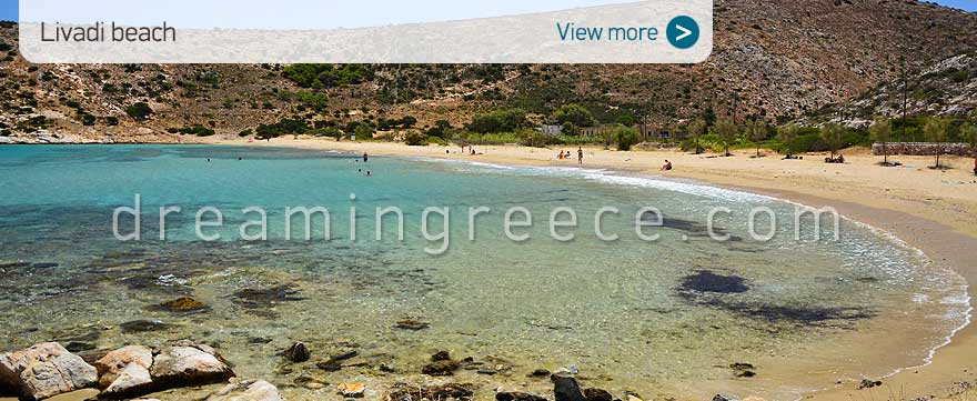 Livadi beach Iraklia beaches Greece. Vacations in Greece.