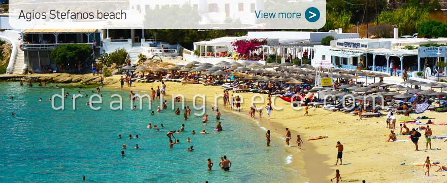 Agios Stefanos beach Mykonos Beaches Greece