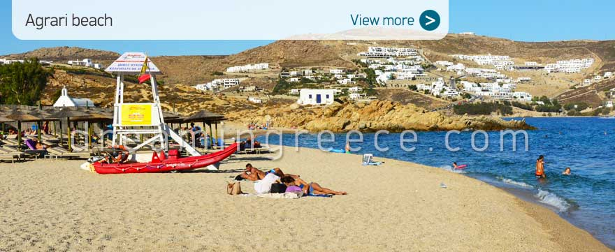 Agrari beach Mykonos Beaches Greece