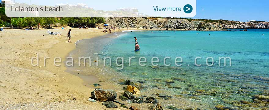 Lolantonis beach Paros Beaches Greece Travel