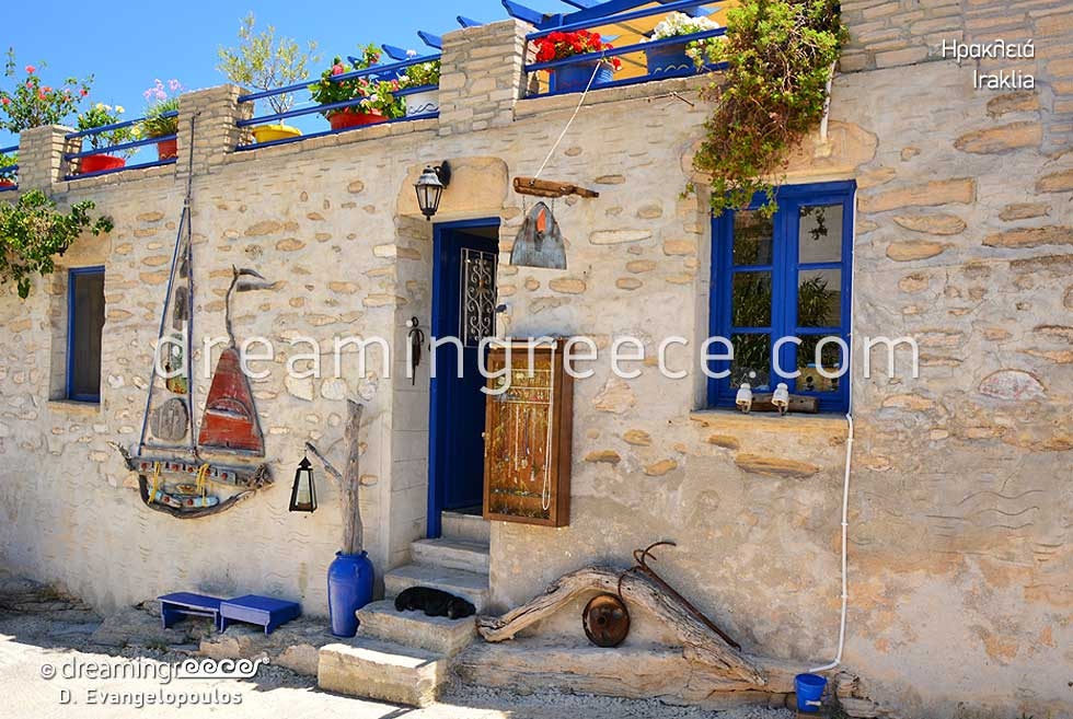 Iraklia island Small Cyclades. Summer Holidays in Greece