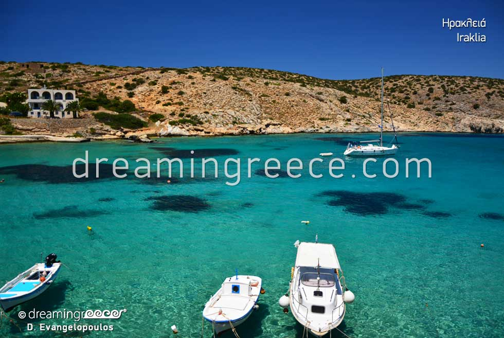 Vacations in the Greek islands. Iraklia island Small Cyclades Greece