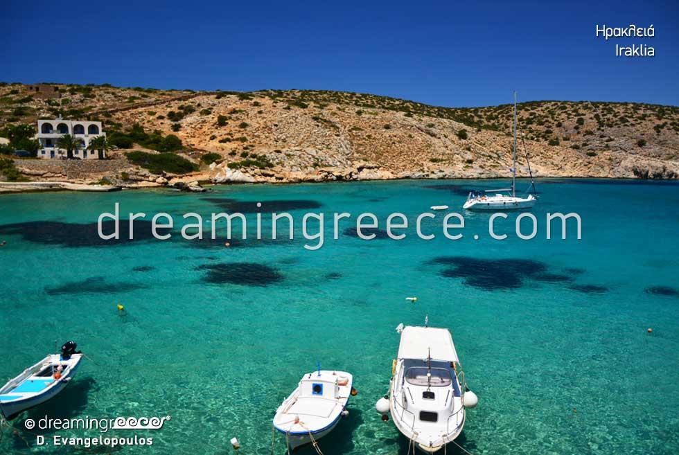 Vacations in the Greek islands. Iraklia island Small Cyclades Greece