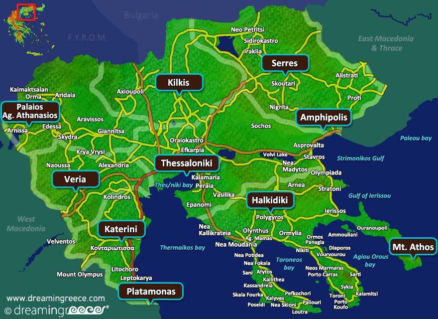 Central Macedonia Map Greece