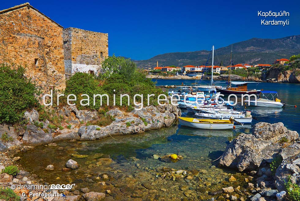 Travel Guide of Kardamyli Messinia Peloponnese Greece Vacations