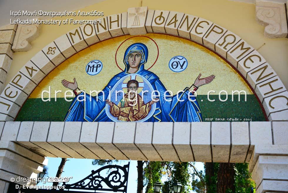 Monastery of Faneromeni Lefkada island Greece
