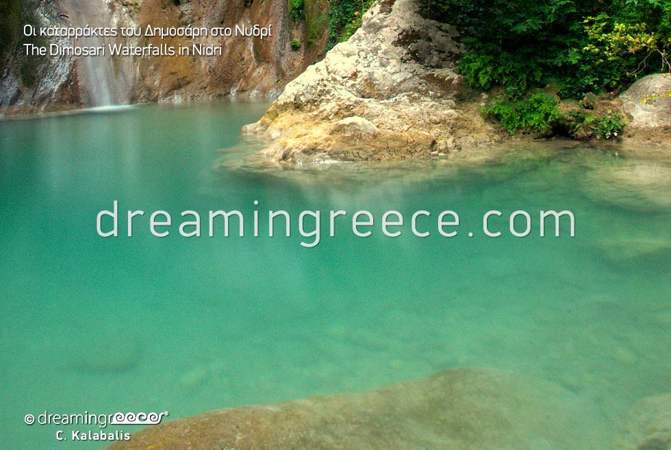 Dimosari Waterfalls in Nidri Lefkada island Greece