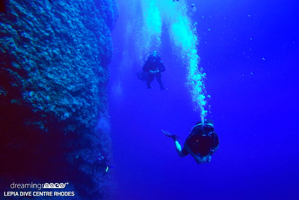 Scuba diving in Rhodes island. Travel Guide of Greece