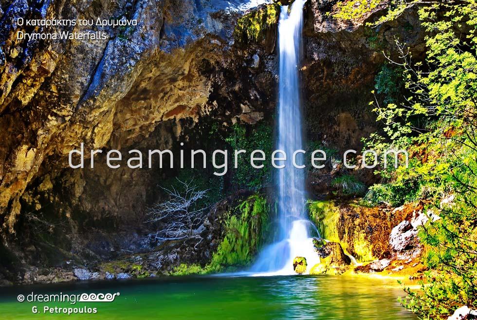 Drymona Waterfalls. Travel Guide of North Evia Greece