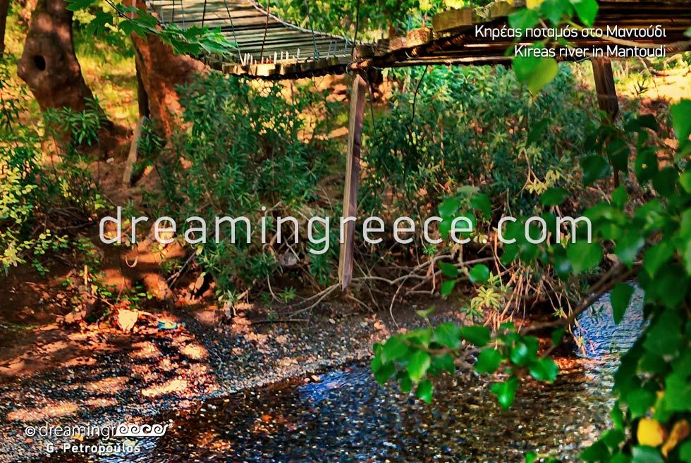 Kireas river in Mantoudi. North Evia in Greece.