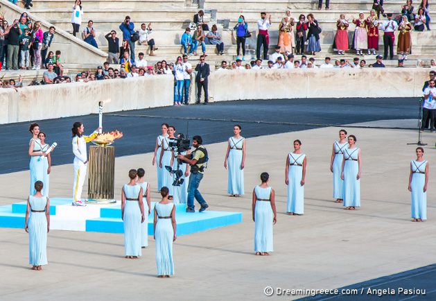 Rio 2016 Olympic flame is lit at temple of Hera and travels to Athens Greece
