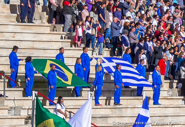 Lighting and Handover Ceremonies of the Olympic Flame Athens Greece