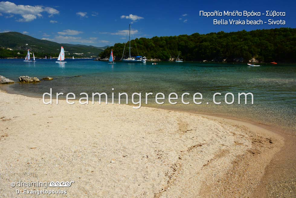 Visit Bella Vraka beach in Sivota greece