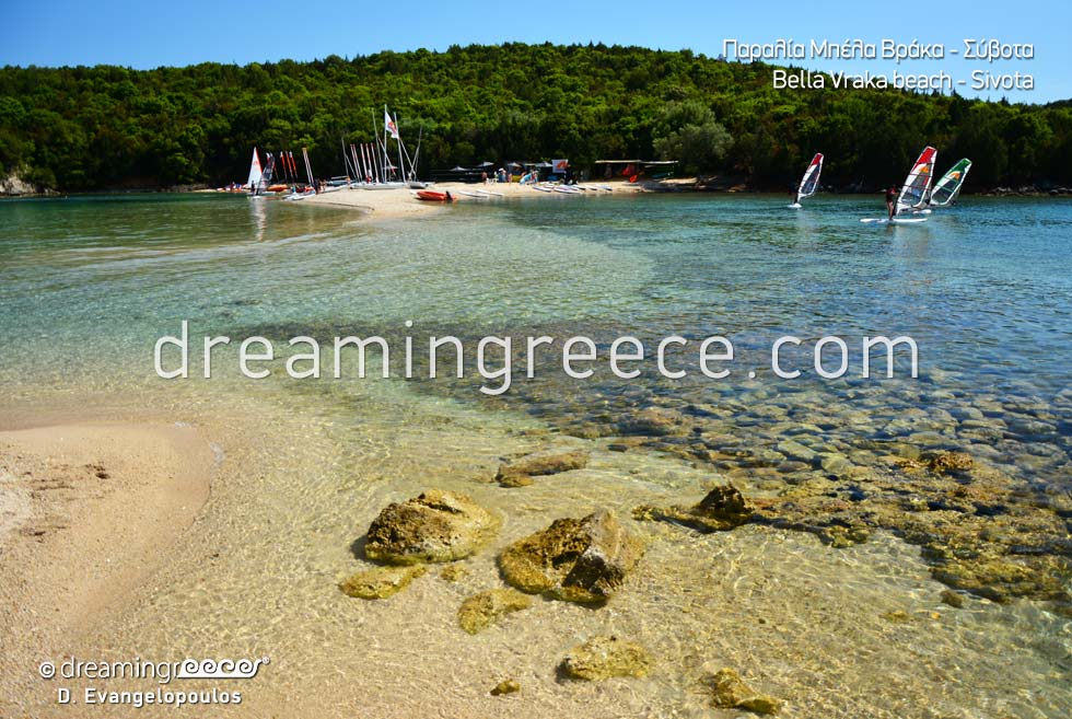 Bella Vraka beach. Beaches Sivota Greece