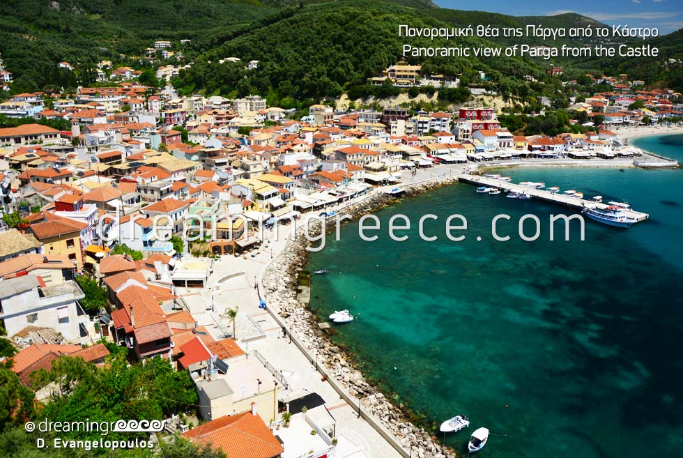 Vacations in Parga Greece view from Caste