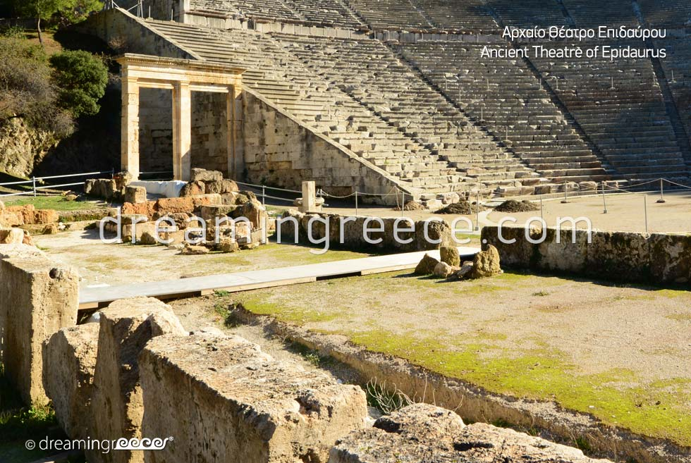 Ancient Theater of Epidavros Peloponnese Explore Greece