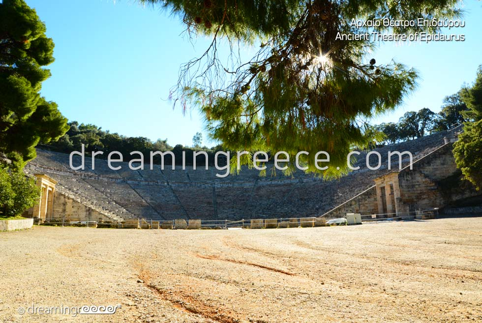Ancient Theater of Epidavros Peloponnese Greece