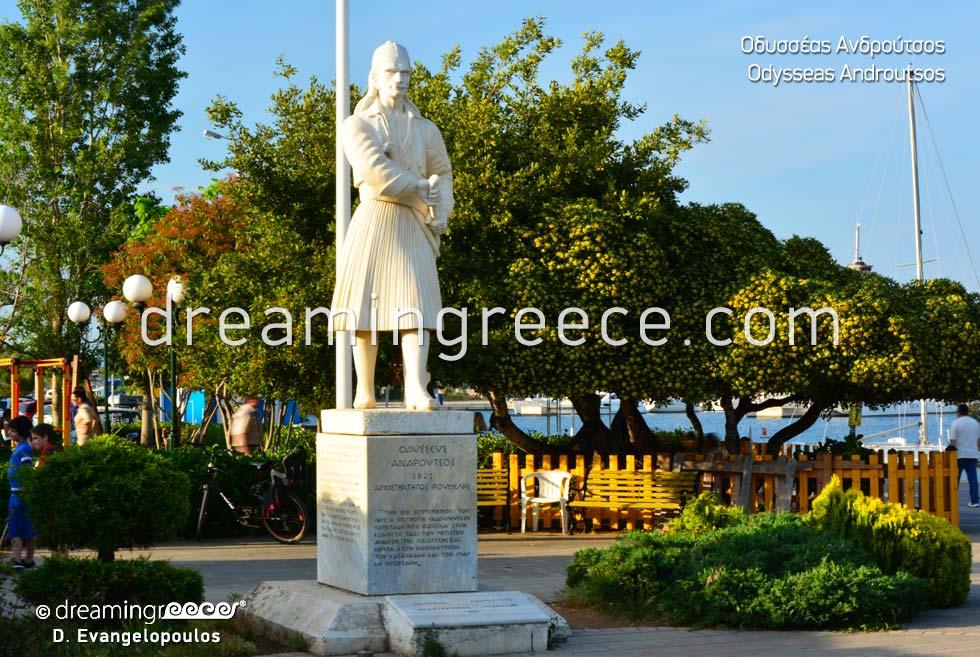 Odysseas Androutsos statue Preveza Epirus Greece
