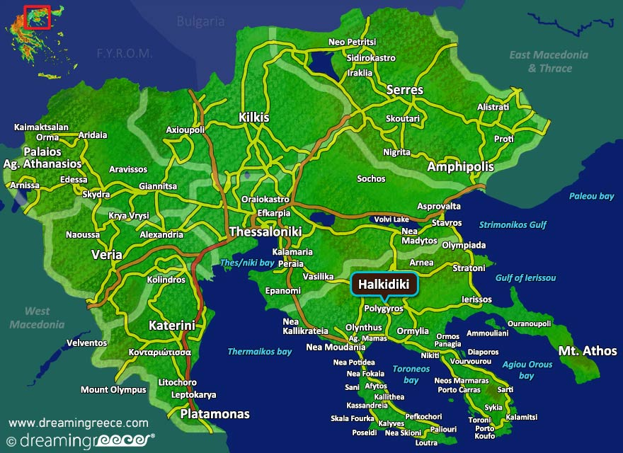 Holidays In Halkidiki Greece Travel Guide Dreamingreece