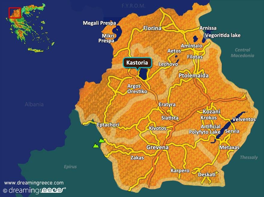 Western Macedonia Map Greece