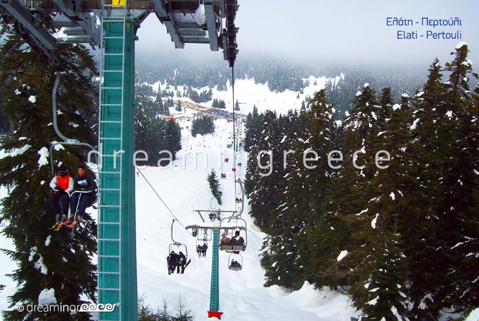 Winter Holidays in Elati Pertouli Thessaly. Tourist Guide Greece.