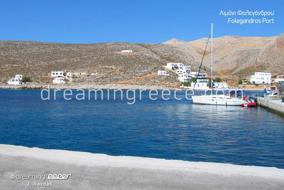 Folegandros port Greece