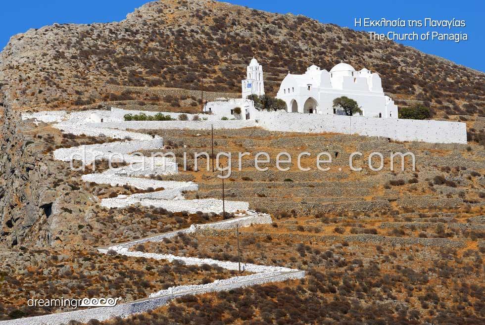 Church Panagia Folegandros island. Discover Greece