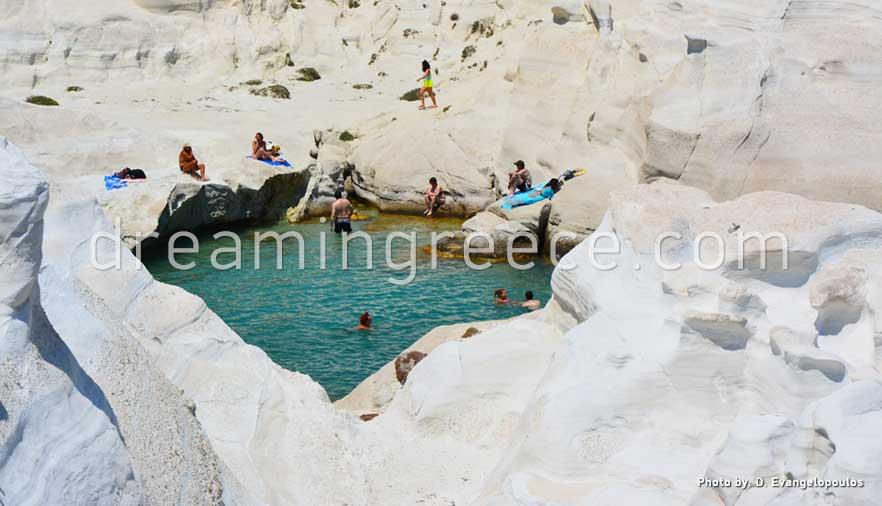Sarakiniko Beach  Milos Beaches Greece  DreamInGreece.com