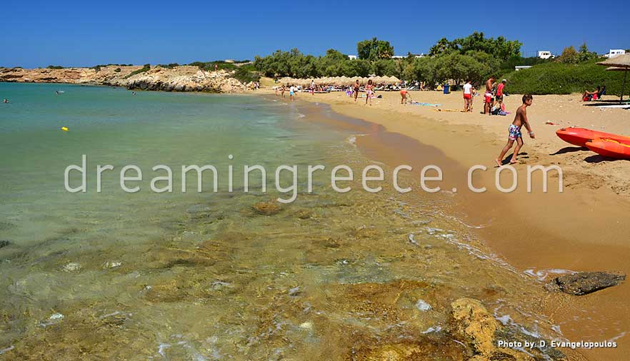Faragas beach Paros beaches Greece. Holidays in Greece.