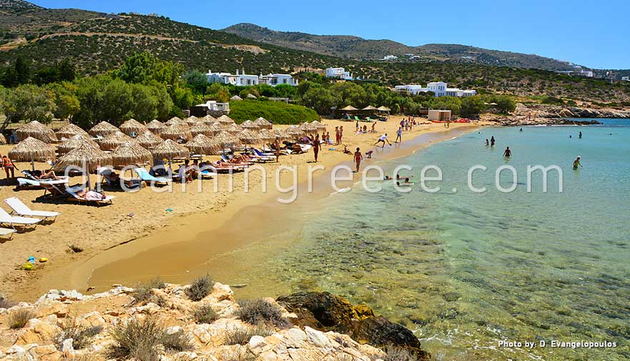 Faragas beach Paros beaches Greece. Holidays in Paros island.