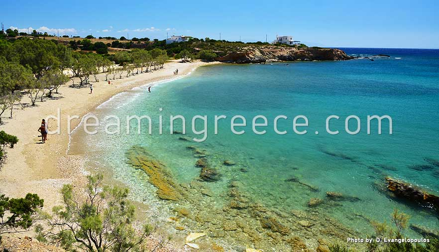 Glyfa beach Paros beaches Greece. Holidays in Greece.
