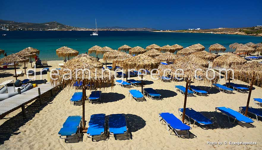 Martselo beach Paros beaches Greece. Holidays in Paros island.