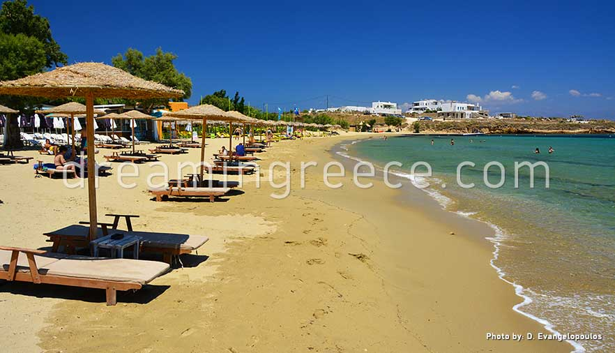 Punda beach Paros beaches Greece. Holidays in Paros island.