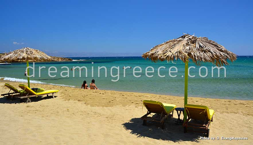 Punda beach Paros beaches Greece. Holidays in Greece.