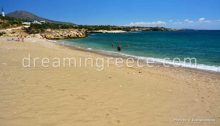 Tripiti beach Paros beaches Greece. Travel Guide of Paros island.