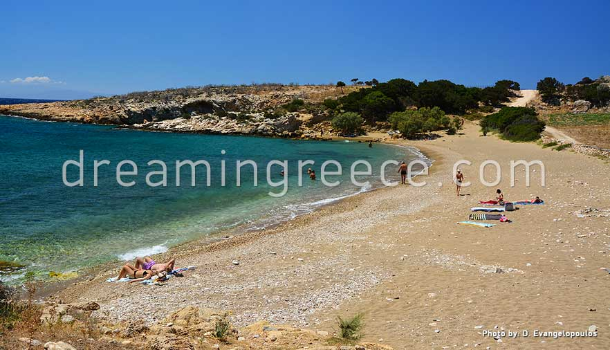 Tripiti beach Paros beaches Greece. Holidays in Paros island.