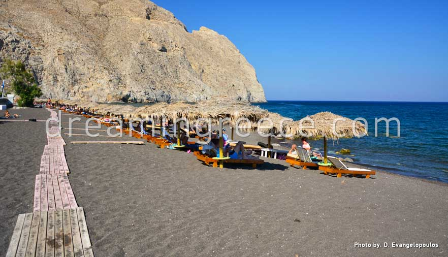 Perissa Beach Santorini Beaches Greece