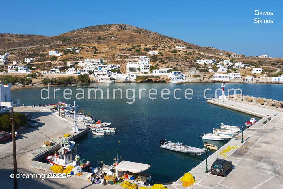 Sikinos island port. Discover Greece